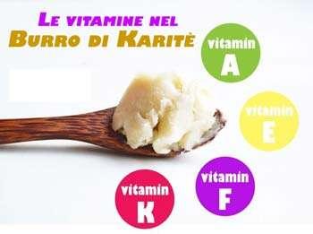 burro di karitè vitamine