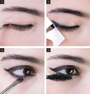 pennelli makeup eyeliner-applicazione