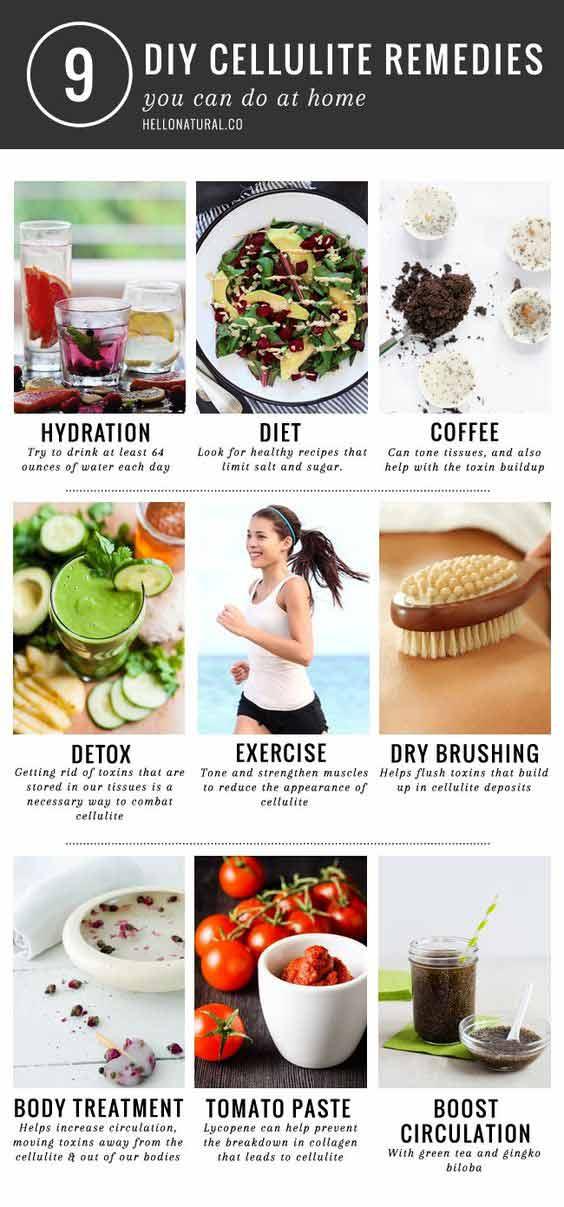 Infografica - 9 rimedi per combattere la cellulite