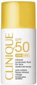 Migliori solari pelle grassa - CLINIQUE, Fluido Protettivo Solare Minerale Viso, Unisex, SPF50