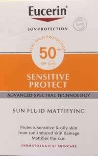 Migliori solari pelle grassa - Eucerin Sun Fluid opacizzante SPF 50 +